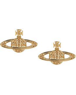 Mini Bas Relief Earrings Light Topaz