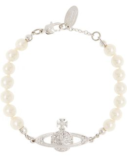 Mini Bas Relief Pearl Bracelet