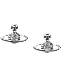 Nano Solitaire Earrings Crystal