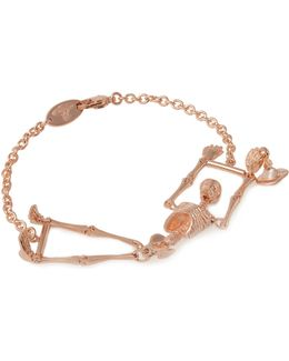 Skeleton Bracelet Rose Gold