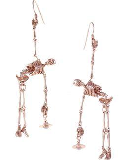 Skeleton Earrings Rose Gold