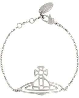 Thin Lines Flat Orb Bracelet Silver