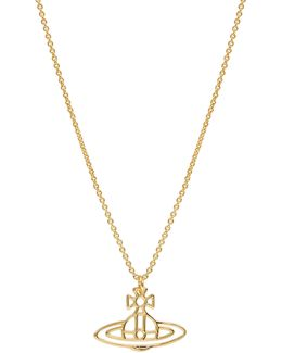 Thin Lines Orb Pendant Gold