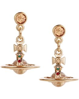 New Petite Orb Earrings Gold