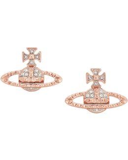 Mayfair Bas Relief Earrings Pink