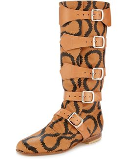 Pirate Boot Squiggle Tan/brown