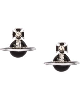 Black Iona Stud Earrings