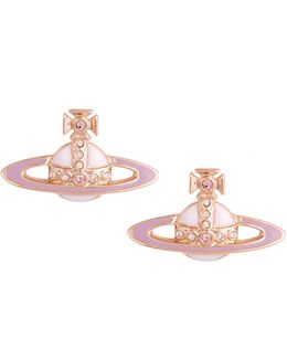 Powder Pink Small Neo Bas Relief Earrings