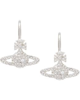 Grace Bas Relief Earrings Crystal