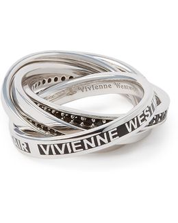 Sterling Silver Dustin Ring Black