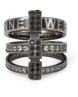 Sterling Silver Jules Ring Gunmetal