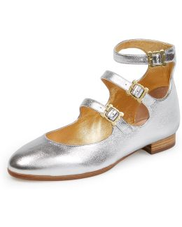 Wallace 3 Strap Shoes Silver