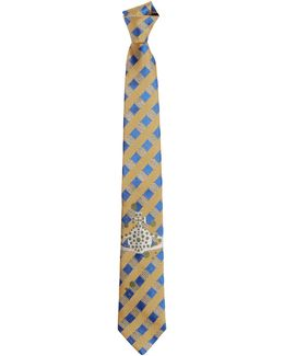Spotty Orb Tie Yellow