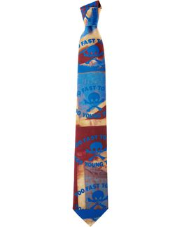 Too Fast To Live Tie Red/blue