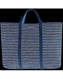 Woven Stripe Bag Black