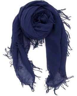 Indigo Cashmere Silk Scarf