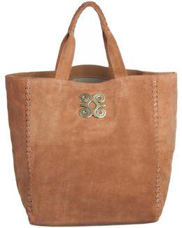 Copper Suede Tote Bag