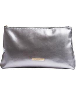 Silver Makeup Bag