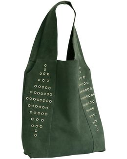 Military Suede Rivets Bag