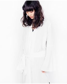Lazer Shirt Dress / White