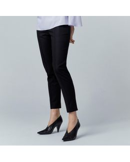 Compact Cotton Trousers