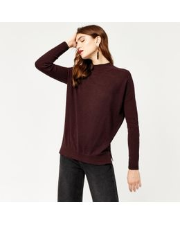 Boxy Funnel Neck Jumper