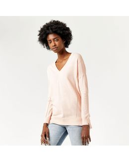 V Neck Long Line Jumper