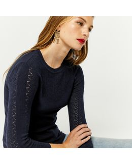 Pretty Stitch Yoke Jumper