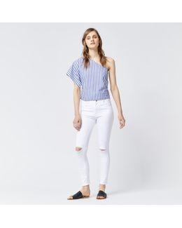 Distressed Skinny Cut Jean