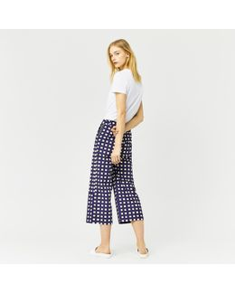 Cropped Gingham Trouser