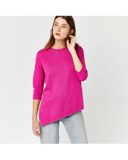 Stitchy Displaced Hem Jumper