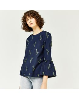 Iris Embroidered Top