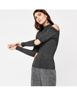Slash Sleeve Rib Jumper
