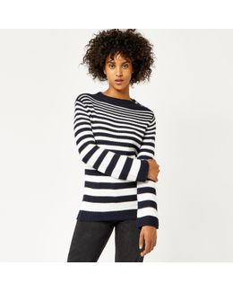 Graduated Stripe Button Jumper