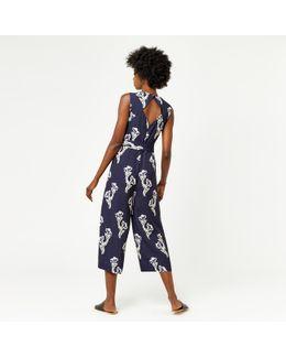 Iris Print Jumpsuit