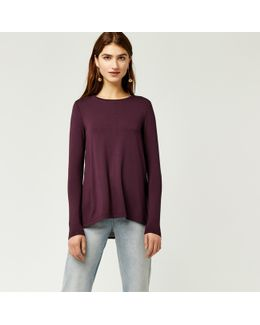Pleat Back Woven Mix Top