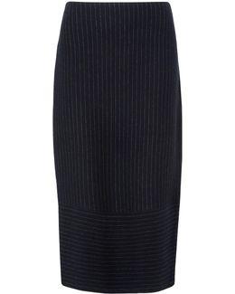Tora Pinstripe Tube Skirt