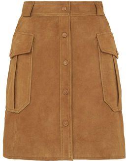 Suede Pocket Skirt