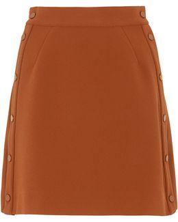 Popper Side A-line Skirt