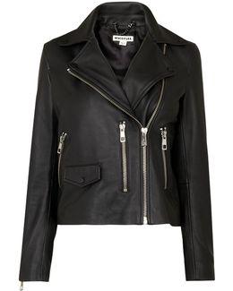 Black Agnes Leather Jacket