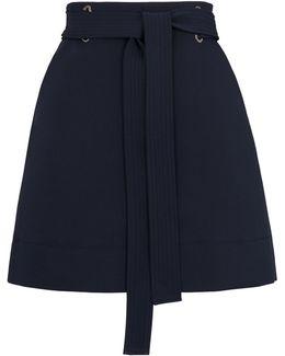 Mini Belted Skirt