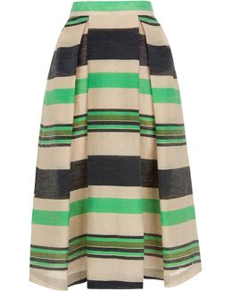 Miriam Stripe Midi Skirt
