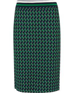 Foulard Jacquard Knit Skirt