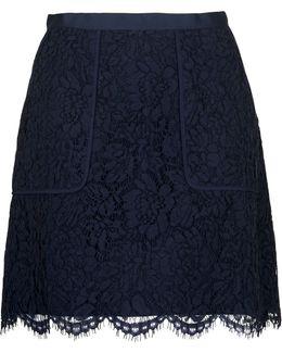 A-line Lace Pocket Skirt
