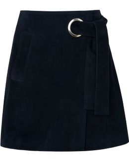 Lori Eyelet Suede Mini Skirt