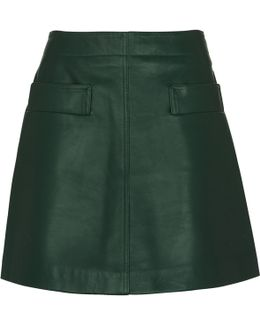 Rita Leather Skirt
