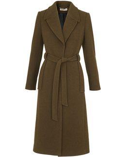 Evangeline Belted Long Coat