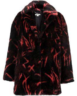 Jacquard Faux Fur Coat