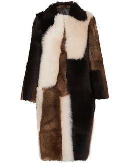 Mia Patchwork Sheepskin Coat