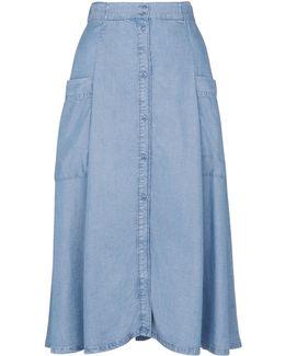 Edin Button Through Skirt